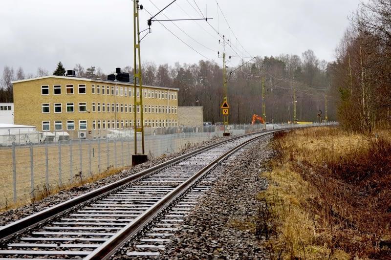 Enkelspårig järnväg i Lusharpan år 2017