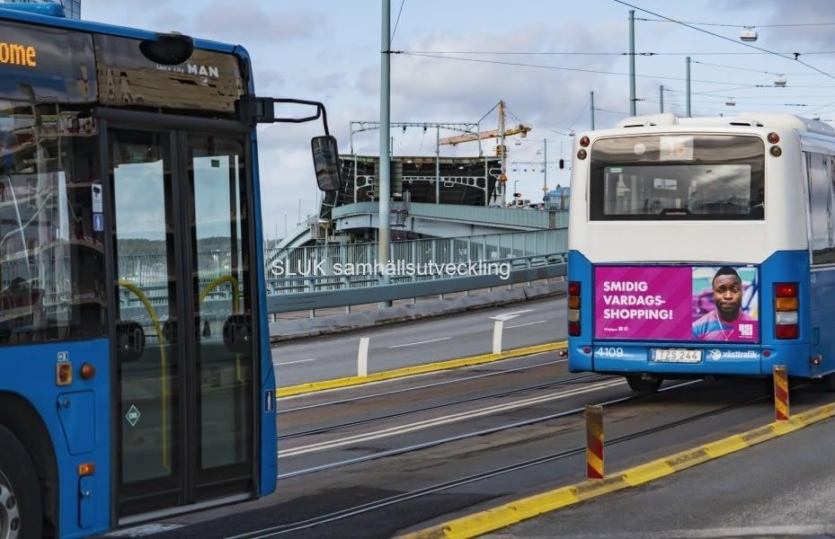 Broöppning på Götaälvbron i mars