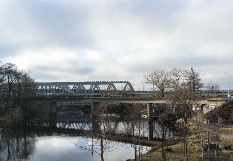 Marieholmsbron tåg år 2017