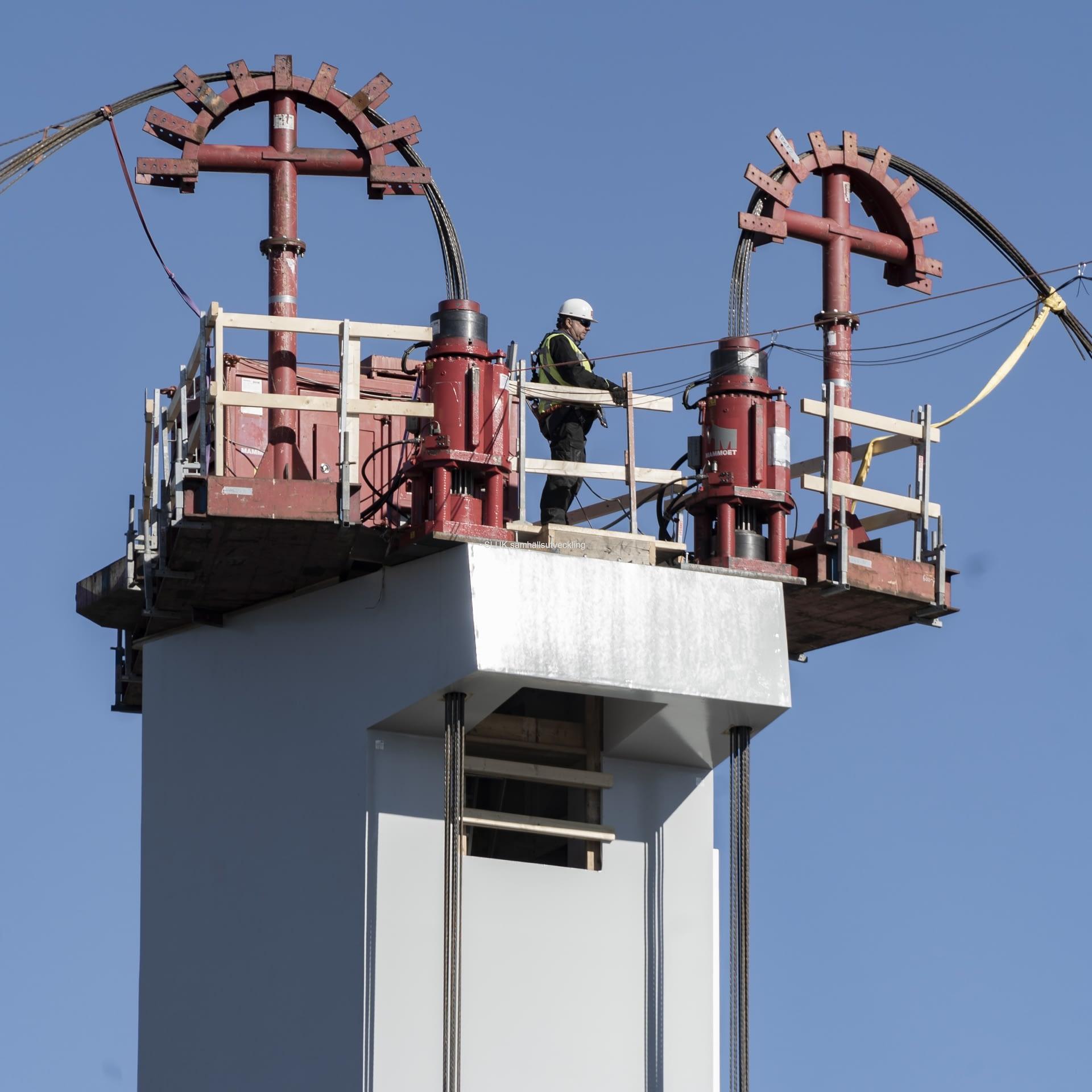 Utsikt från pylonen på #Hisingbron