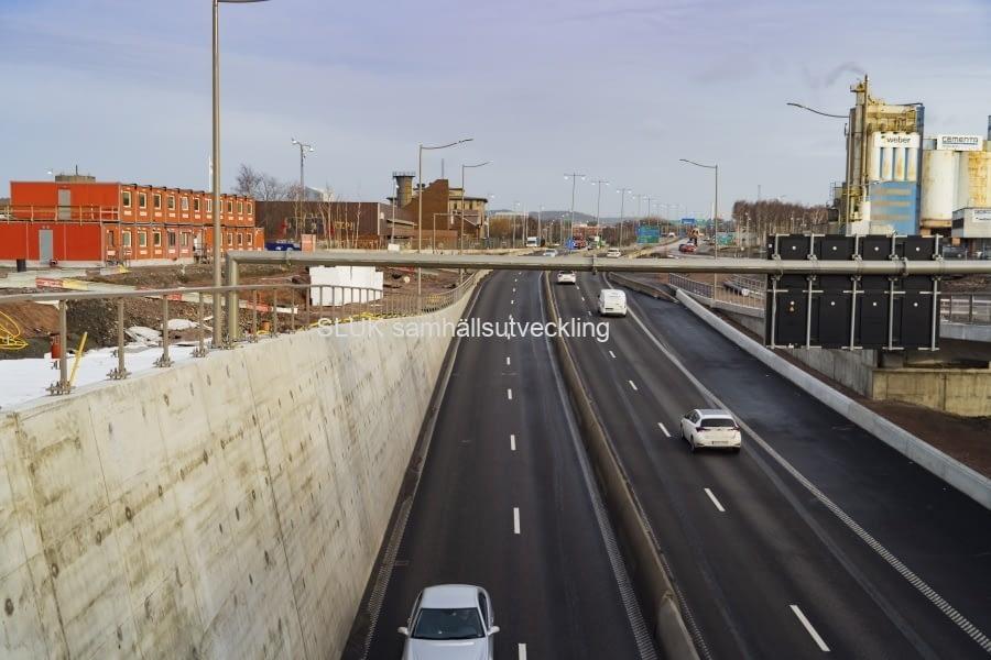Ny körbana i nordlig riktning i Gullbergsvass.