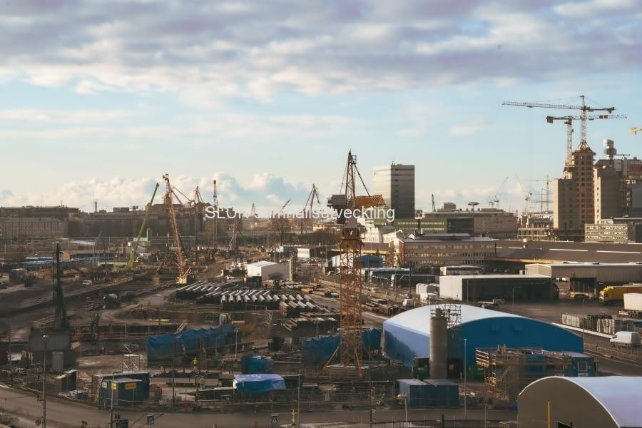 Här visas Östra etableringen från Skansen Lejonet.