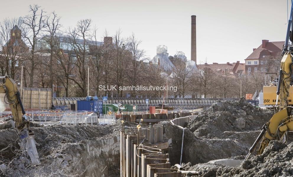 Under kanalen kommer Västlänken att passera.