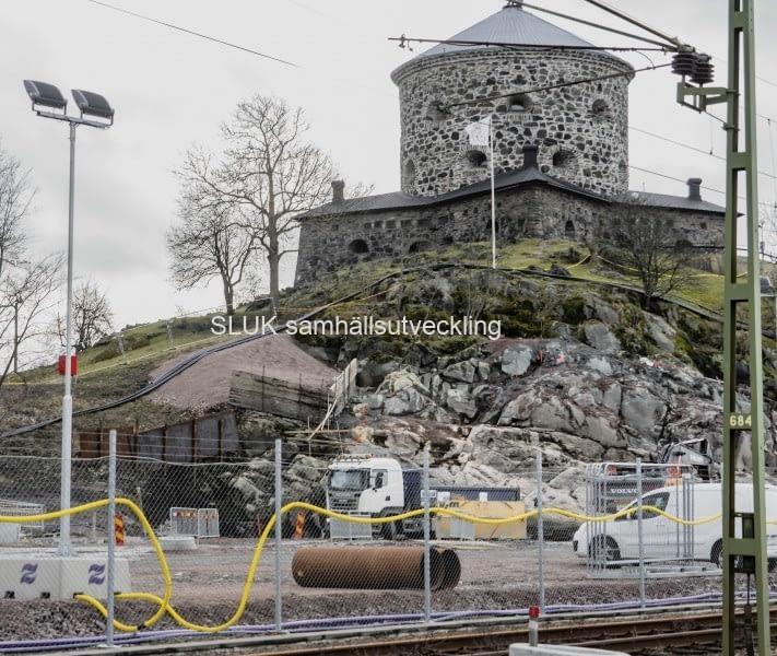 Arbeten pågår under Skansen Lejonet.
