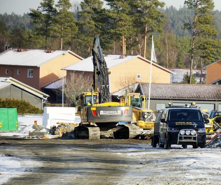Byggarbete i Öjersjö höjd år 2017