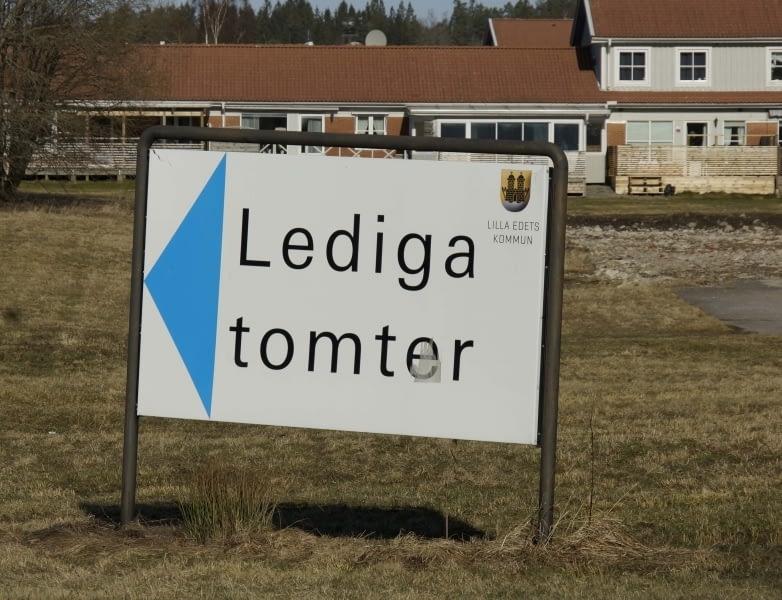 Lediga tomter Lilla Edet år 2017