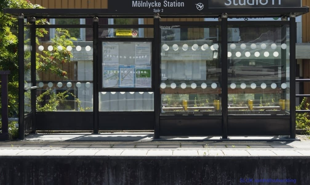 Mölnlycke-station-spår-2, Hållplats för regiontåg