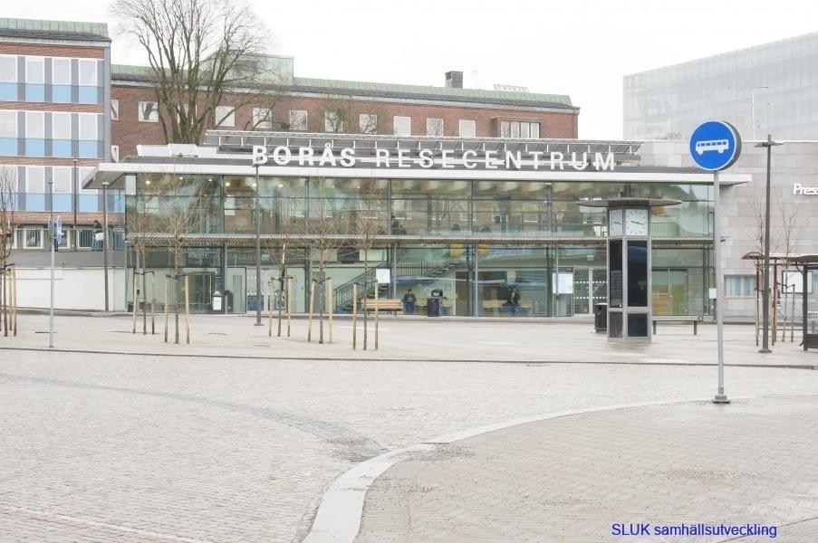 Entrén till Centralstationen i Borås