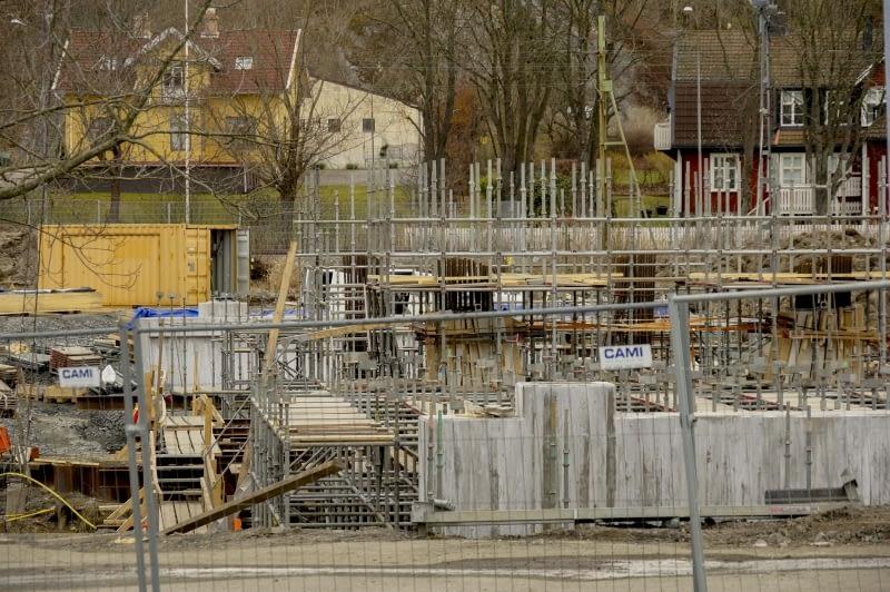 Brobygge över Säveån år 2017