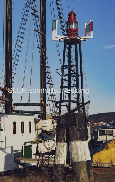 Lanterna i båthamnen Gullbergsvass