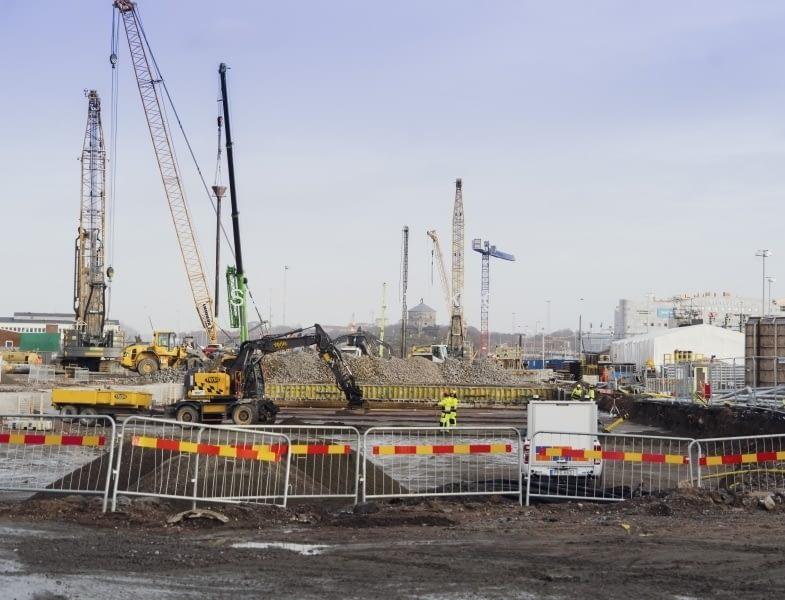 Ännu en bild närmare Nils Ericson terminalen. Här under byggs stationen.