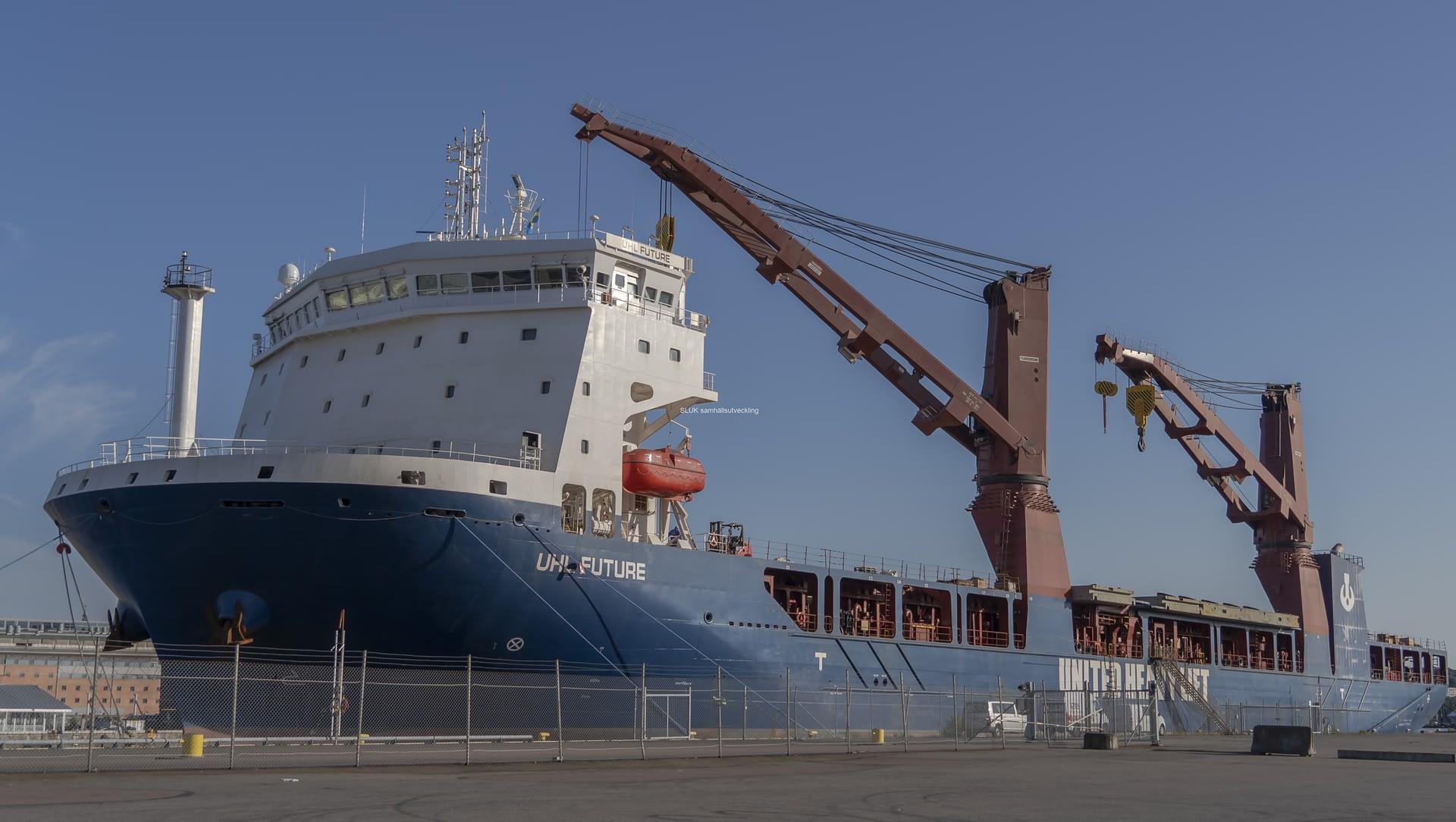Lyftspannet till Hisingsbron anlände till Frihamnen lördagen den 8 augusti med det spanska fartyget UHL Future.