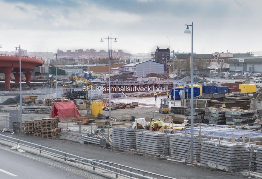 Marieholmstunneln ska ansluta här från E45 till Röde Orm med E6 Tingstadsmotet.