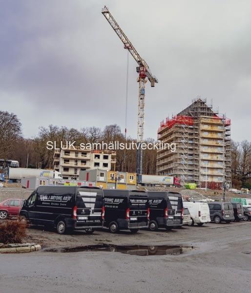 Nu har byggnationen kommit igång av de 123 hyresrätterna.Inflyttning mellan 2021-2024.