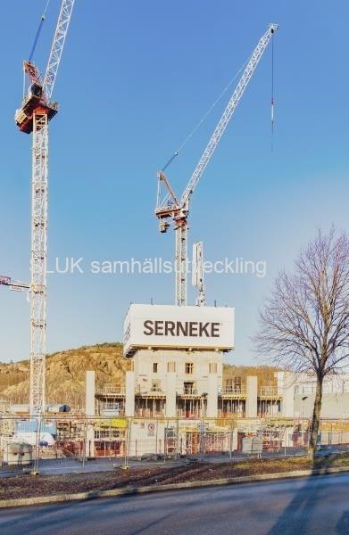 Därefter åkte jag till Lindholmen och fotograferade projektet från närmare håll.