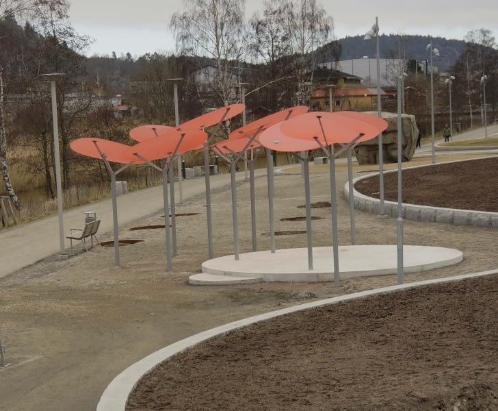 Stadsparken Partille år 2017