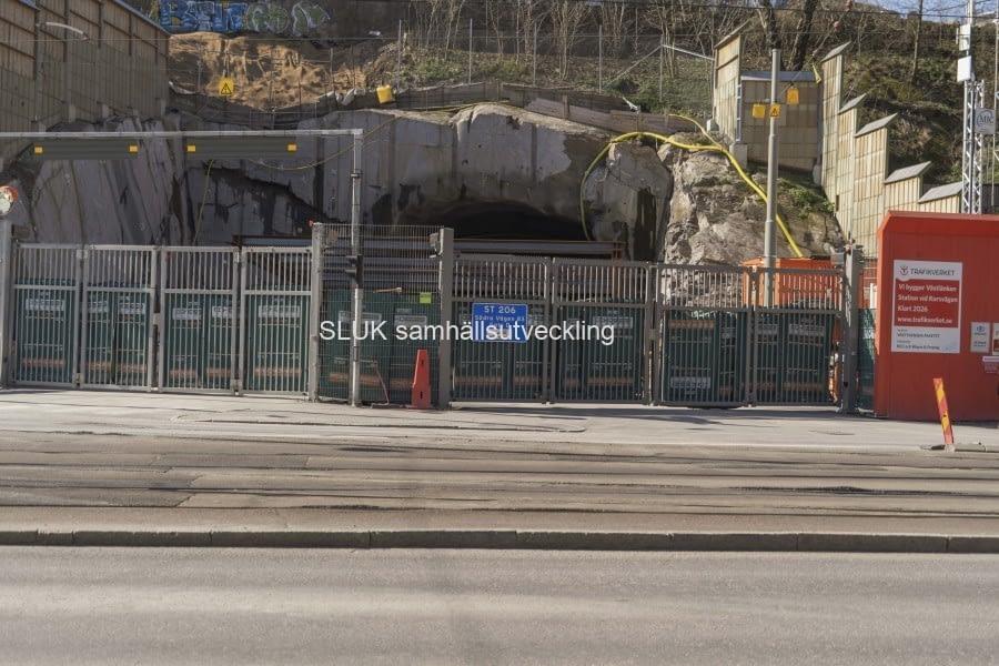 Här är tunneln som förbinder Haga med Korsvägen.