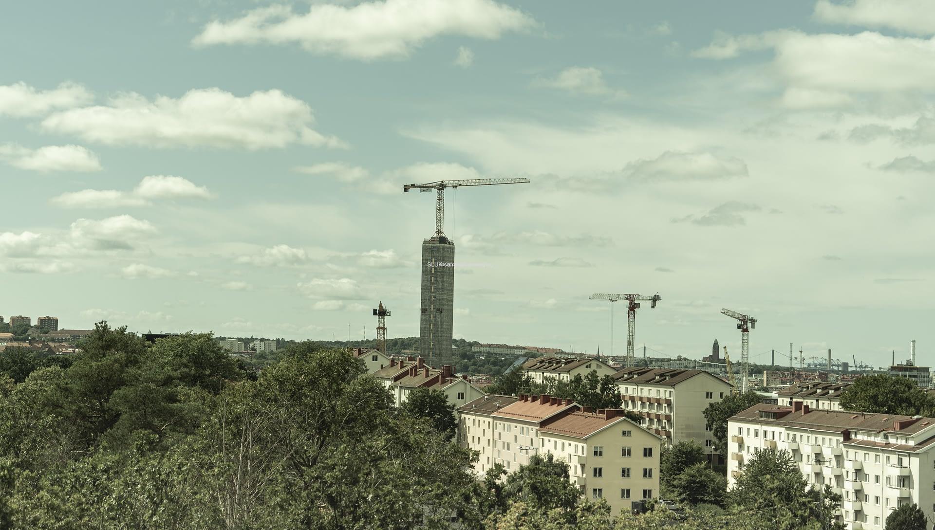 I bakgrunden syns det som kommer att bli Göteborgs högsta kontorshus.