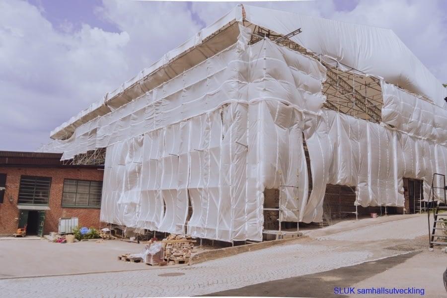Ombyggnation av en fastighetslokal pågår