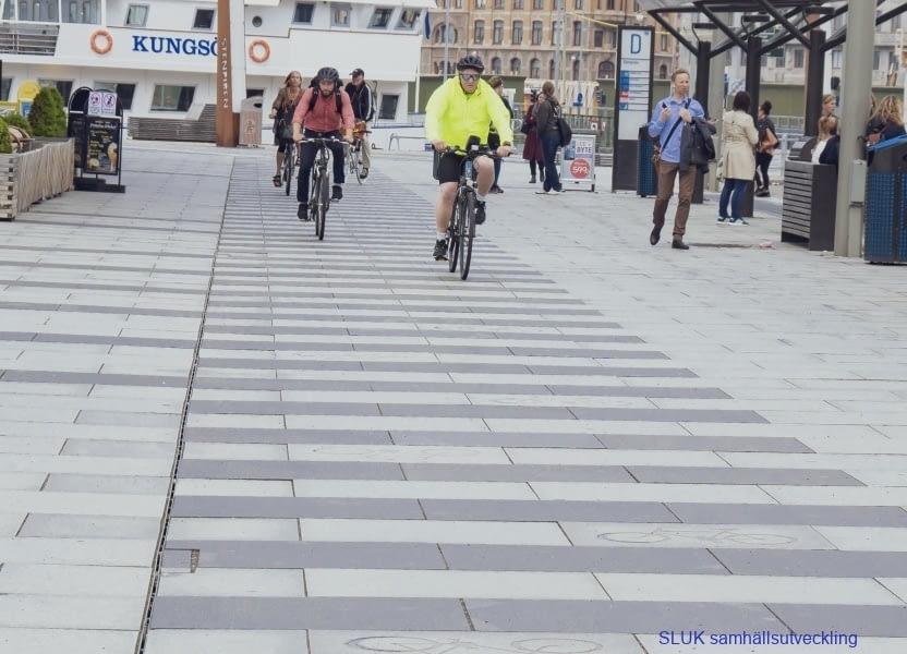 Det finns gott om cyklister!
