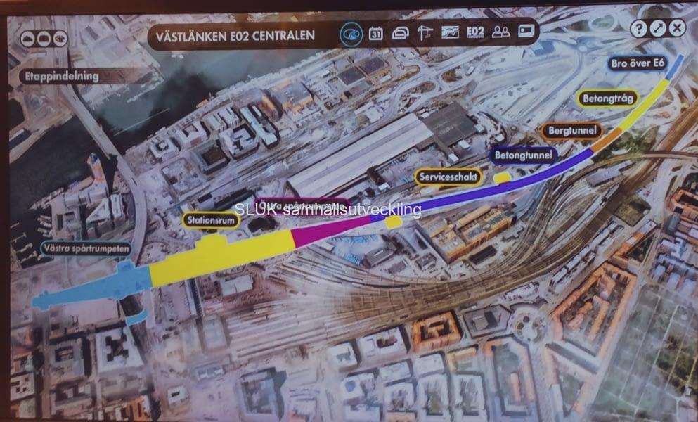 Här visas Östra etableringens omfattning, som sträcker sig från Skanset Lejonet till Sankt Erikgsgatan, och Lilla Bommen.