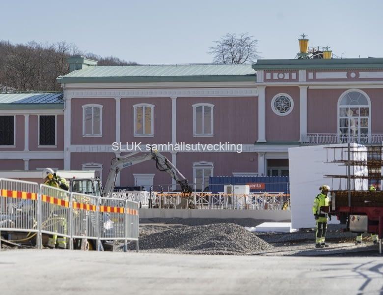 Så här ser det ut på Liseberg den 20 mars.