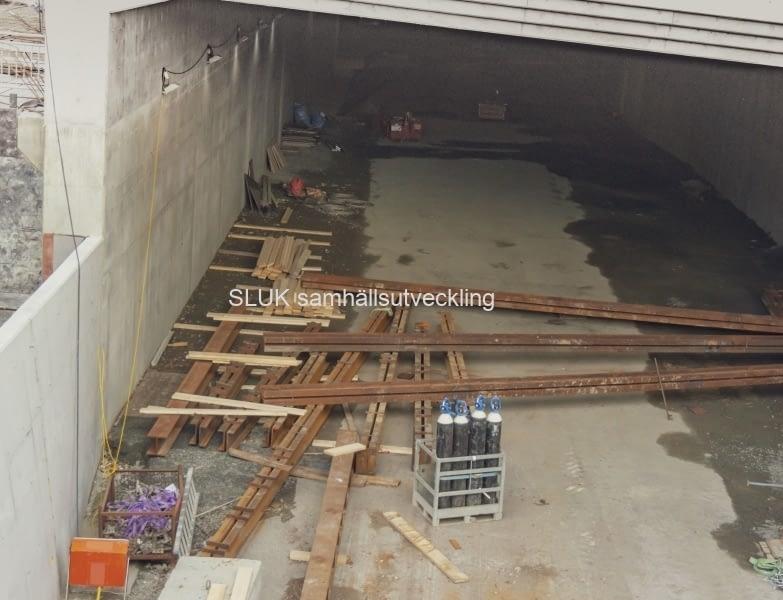 E45, Götatunneln, Överdäckning, 2018-10