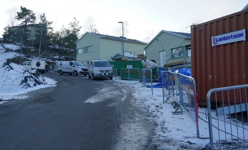 Nybyggnation i Ljungkullen Fröjas Backe år 2017