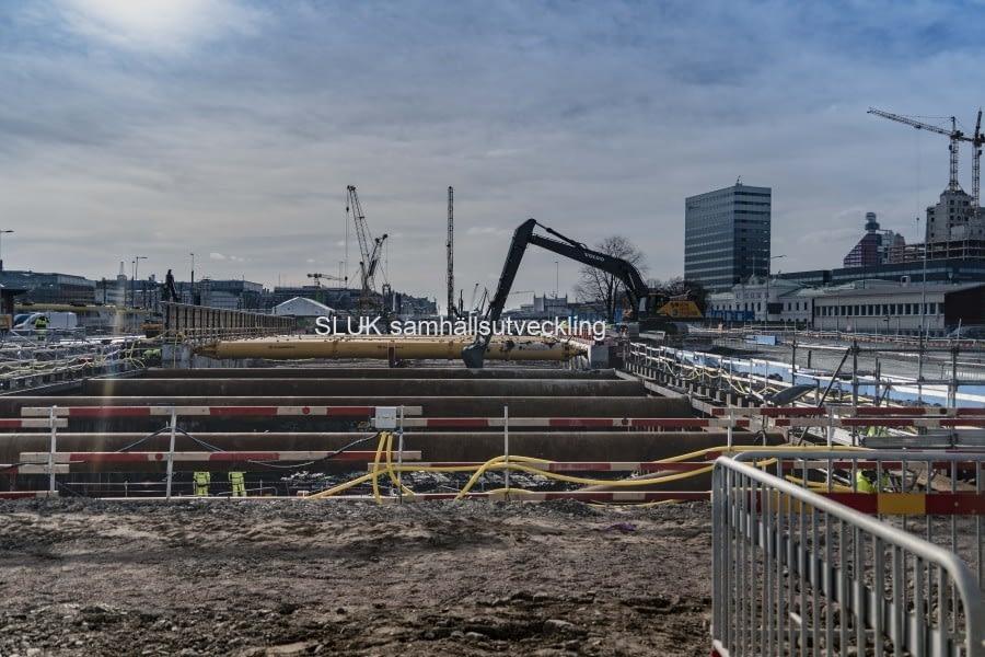 Östra etableringen nedanför Skansen Lejonet den 23 mars.