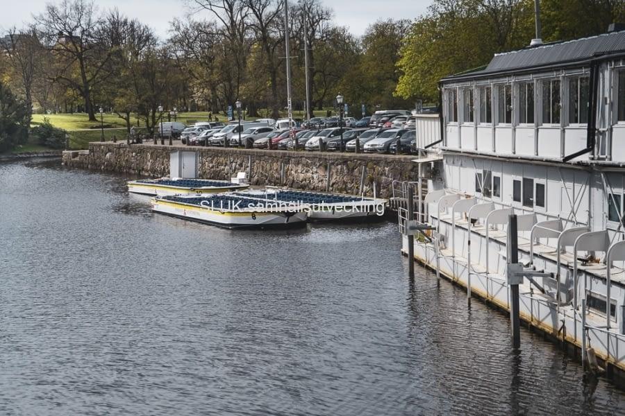 Paddan, som är sightseeingbåtar skulle vanligtvis starta rundturen i påskas och jag tror inte att det blev något med det, pga av viruset.