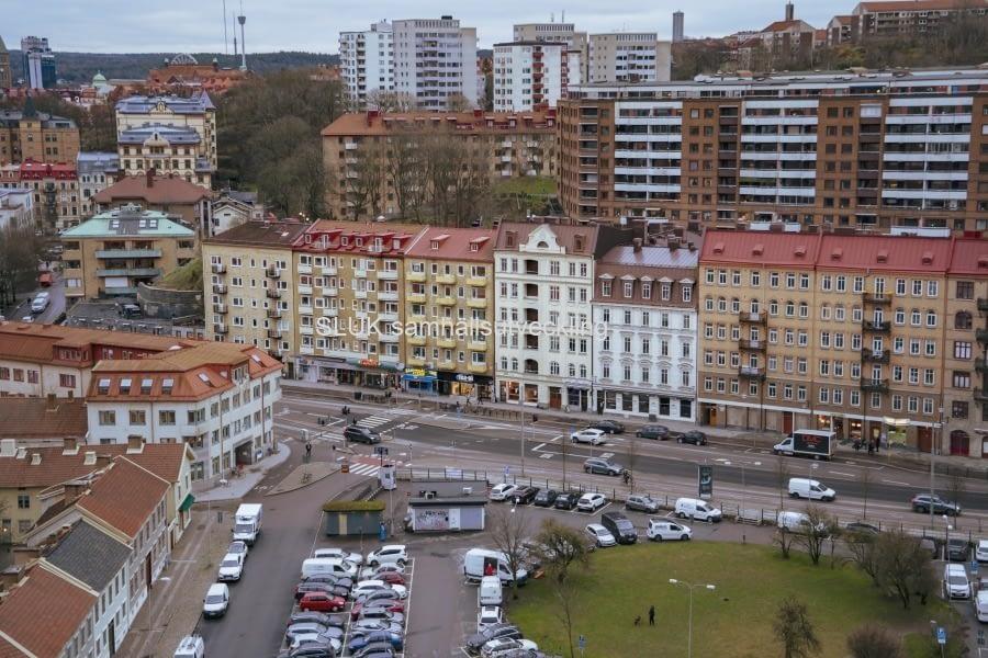 Här ser vi Skanstorget och Övre Husargatan.