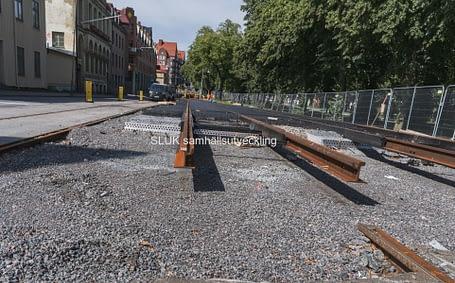 Spårvagnstrafiken har ändrade körvägar från 1 juni till den 27 september.