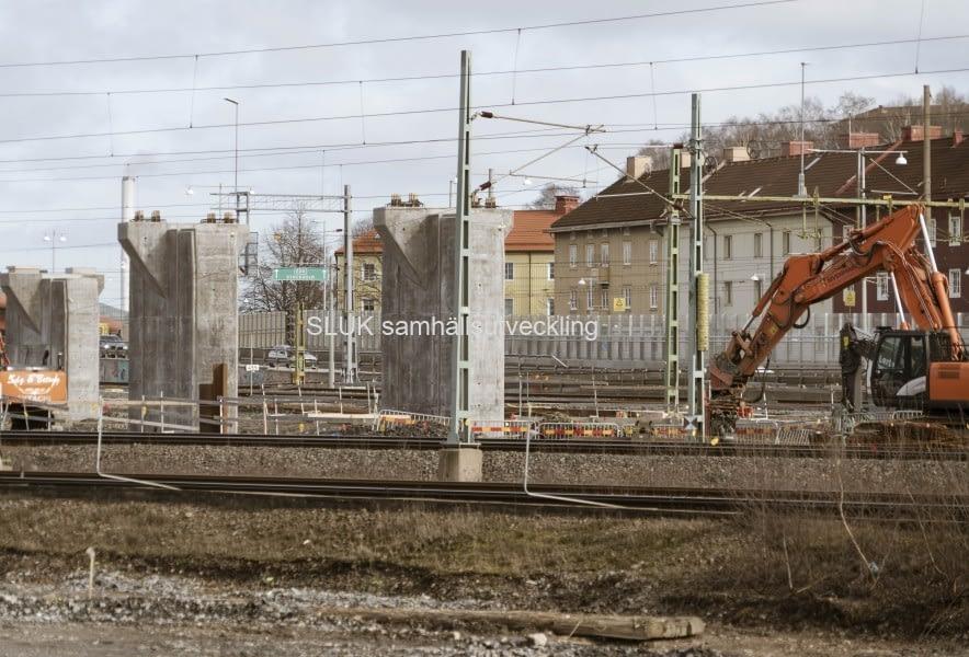 Olskroken planskildhet bygger även Västlänkens spår in till centralen.